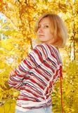 Woman in the autumn park. Stock Image