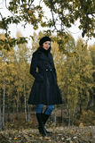 Woman in autumn park 5 Royalty Free Stock Photo