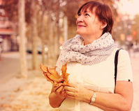 Woman  in autumn park. Stock Image