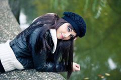 Woman autumn portrait Royalty Free Stock Images