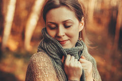 Woman autumn portrait Royalty Free Stock Photography