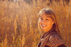 Woman in autumn Royalty Free Stock Photo