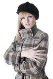 Woman in autumnal coat Stock Photo
