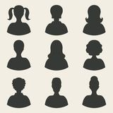 Woman avatar icons Stock Photos