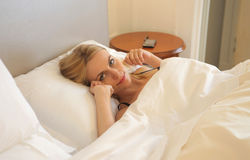 Woman awakening Stock Photography