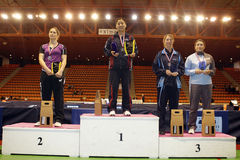 Woman Awards. At the French championships in Nimes the 1 May 2010 Royalty Free Stock Photo