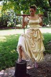 Woman with ax Royalty Free Stock Photo