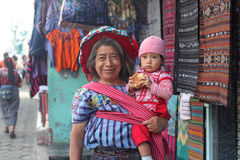 Woman and baby. Maya woman and baby in Guatemala Stock Photography
