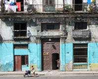 Woman and baby carriage in Havana Cuba Stock Image