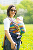 Woman baby carry scarf Royalty Free Stock Photos