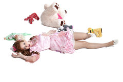 Woman baby doll dress Royalty Free Stock Image