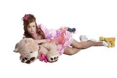 Woman baby doll dress Royalty Free Stock Photo