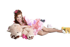 Woman baby doll dress Royalty Free Stock Images