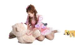 Woman baby doll dress Stock Photo