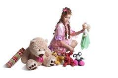 Woman baby doll dress Royalty Free Stock Photos
