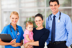 Woman baby hospital Royalty Free Stock Photography