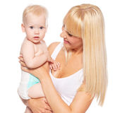 Woman with baby Stock Photos