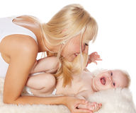 Woman with baby Royalty Free Stock Images