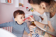 Woman with baby Stock Photo