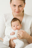 Woman And Baby Portrait Stock Image