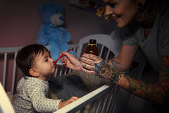 Woman with baby Stock Photography