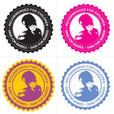 Woman with baby sign Royalty Free Stock Images