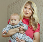 Woman with baby. stock image