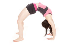Woman back bend Stock Photo