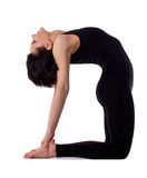 Woman back bends yoga - camel pose Stock Photos