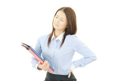 Woman back pain Royalty Free Stock Photo