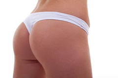 Woman back in panties Royalty Free Stock Photography