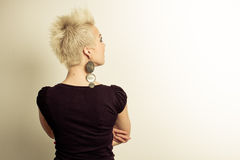 Woman back portrait Stock Images