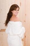 Woman back in relax sauna or massage Stock Photos