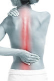 Woman with backache Stock Photo