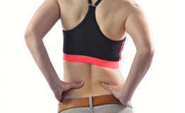 Woman with backache Stock Photography