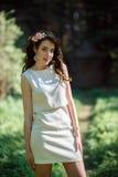 Woman backlit Stock Photography
