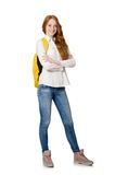 Woman with backpack Stock Photography