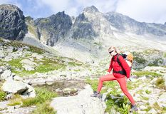 Woman backpacker Royalty Free Stock Photos