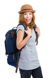 Woman backpacker Royalty Free Stock Images