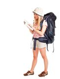 Woman backpacker tourist Royalty Free Stock Photos