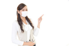 Woman with a bad cold Stock Image