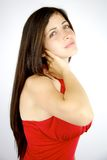 Woman with bad neck back problem Royalty Free Stock Images