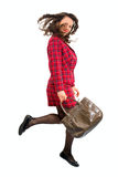 Woman with bag Stock Photography