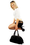 Woman with bag. Royalty Free Stock Photo
