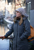 Woman in the city Stock Image