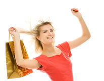 Woman with a bag Royalty Free Stock Images