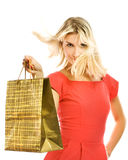 Woman with a bag Stock Photo