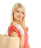 Woman with a bag Stock Photos