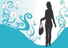 Woman with a bag Stock Images