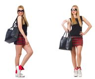 The woman with bag in fashion concept Royalty Free Stock Images